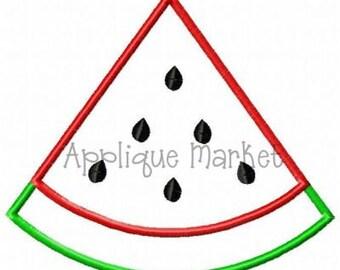 Machine Embroidery Design Applique Watermelon Slice INSTANT DOWNLOAD