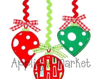 Machine Embroidery Design Applique Ornament Trio INSTANT DOWNLOAD