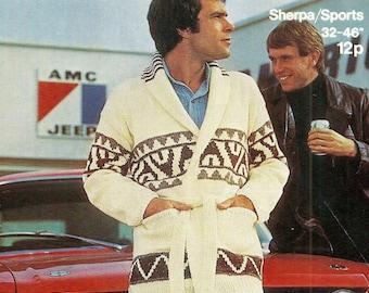 Starsky and Hutch Jacket Vintage Knitting Pattern 411