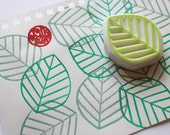 line leaf rubber stamp. plant hand carved stamp. woodland stamp. wedding guestbook leaf. wedding birthday scrapbooking. holiday crafts
