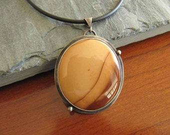 Bruneau Jasper Pendant in Sterling Silver