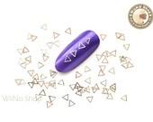 3.5mm Gold Triangle Ultra Thin Metal Decoration Nail Art - 25 pcs