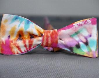 Cheerful Tie Dye  Bow tie