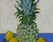 "Pineapple Painting . ""Pineapple and Lemons"" 16x12 in."