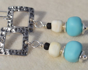 SOLACE-Handmade Lampwork and Sterling Silver Earrings