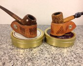 Custom Made Portable Tobacco Pipe Stand- Celtic Design