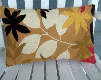 Tan Lumbar Pillow, Designer Throw Pillow, Velvet Pillow Modern  Accent Pillow