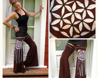 CUSTOM Flower of Life Dream Catcher Mandala~Leg Flares ~Leggies ~Extra Tall Thigh High Leg Warmers ~ by Sumeria Sierra