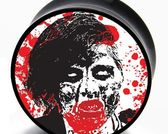 00g (9.5mm) Zombie Invasion Print BMA Plugs Pair