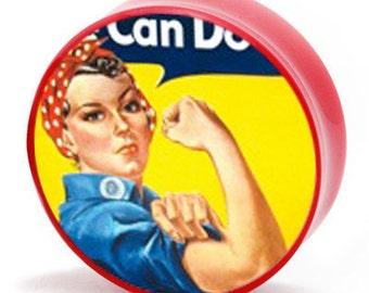 "7/8"" (22m) Rosie the Riveter Vintage Propaganda Poster BMA Plugs Pair"