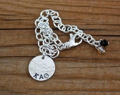Kappa Alpha Theta Charm Bracelet - Custom Sorority Jewelry, Greek Jewelry, Kappa Alpha Theta Bracelet, Theta, Sorority Bracelet