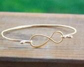 Infinity Bracelet - Gold Filled Bangle Bracelet - Infinity Jewelry Infinity Bracelet, Bridesmaid Gift, Mother's Day Gift, Graduation Gift