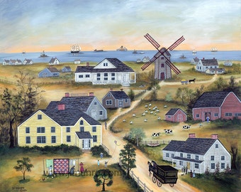 Old Mill on Nantucket - Limited Edition Print _ by J.L. Munro