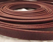 Vintage 7 yards Brown Faux Leather Strapping 3/8 inch wide