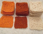 Vintage Granny Squares Lot of 34 in 3 colors SALE