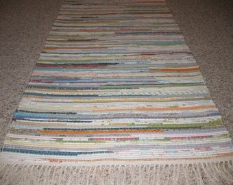 Handwoven Old Fashioned Multi Rag Rug 25 x 66 (M)