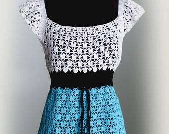Crochet Cotton Blouse.