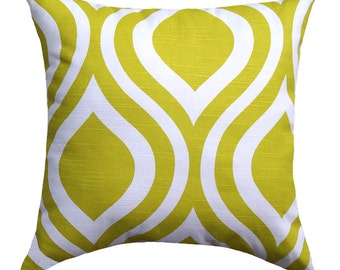 CLEARANCE - Premier Prints Emily Artist Green Ogee Decorative Throw Pillow - Free Shipping