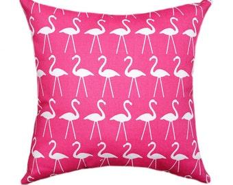 Premier Prints Flamingo Candy Pink Decorative White Bird Throw Pillow - Free Shipping