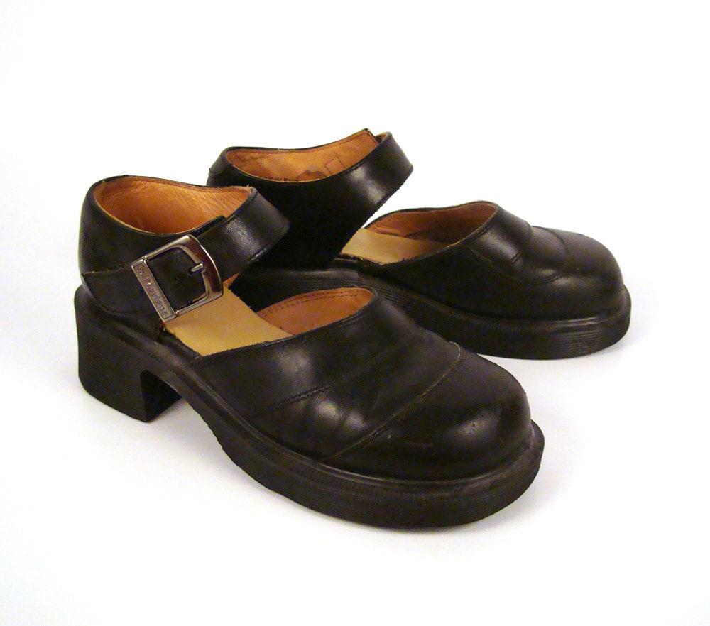 dr martens shoes mary janes 1990 doc black leather made in. Black Bedroom Furniture Sets. Home Design Ideas