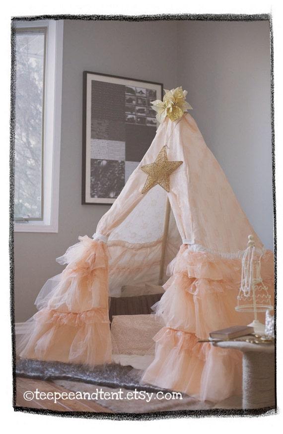 Kids Ruffle Teepee Play Tent In Stock