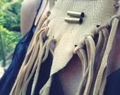 Deerskin Fringe Breastplate Neck piece