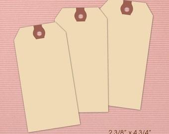 """Set of large paper hang tags 13pt manilla--2 3/8"""" x 4 3/4"""""""