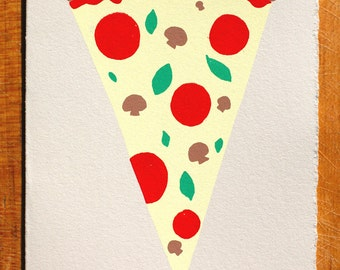Pizza Blank Greeting Card