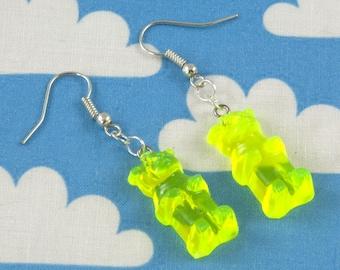 Gummy Bear Earrings Yellow