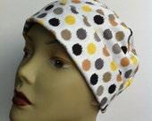Scrub Hat - Chemo Hat - Surgical Hat - Gardening - Bandana - Polka Dots