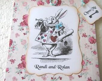 Tea Party Wedding Invitation, Alice in Wonderland invitation, set of 10