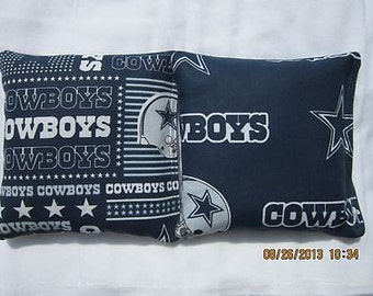 Dallas Cowboy Fabric Cornhole Bags -FREE PRIORITY SHIPPING-  Cornhole or Baggo Bean Bag Toss Set of 8