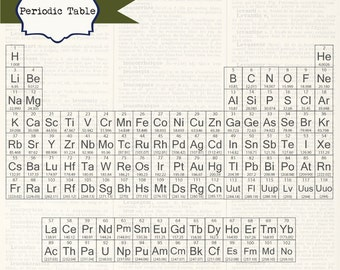 Periodic Table, digital clip art, printable artwork: Commercial and Personal Use