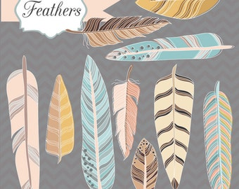 Instant Download -Feathers: Digital Clipart Set