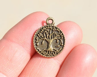 5 Antique Bronze Tree  Charms BC1096