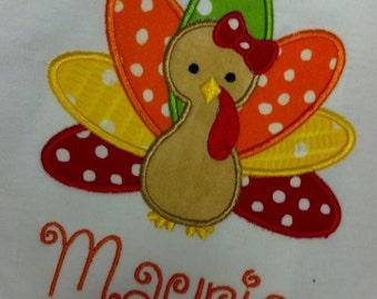 Turkey Girls Shirt Thanksgiving Custom Personalized
