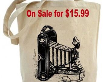Vintage Kodak Camera - Eco Friendly Canvas Tote Bag