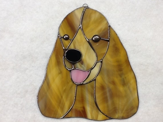 Cocker Spaniel Suncatcher- Stained Glass
