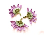 Crochet Aster Flowers Appliques Embellishments