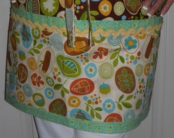 Woodland Gift set, Craft Apron gift set, Woodland creature Sewing room accessories,