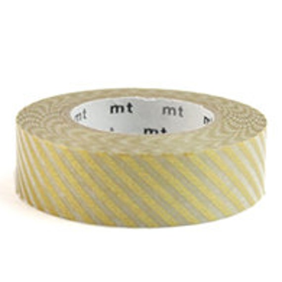 mt Washi Masking Tape - Gold Stripes (Discontinued)