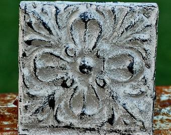 salvaged tin square...  architectural elements... Home Decor... T6 L