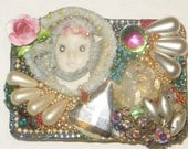 Wendy Gell Vintage 1980's Adagio Face Belt Buckle