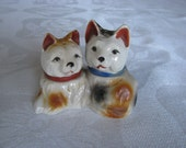 Vintage Japan Salt and Pepper Shakers Dogs Puppies So Cute