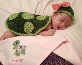 Little Turtle Set, Newborn Size, Photo Prop