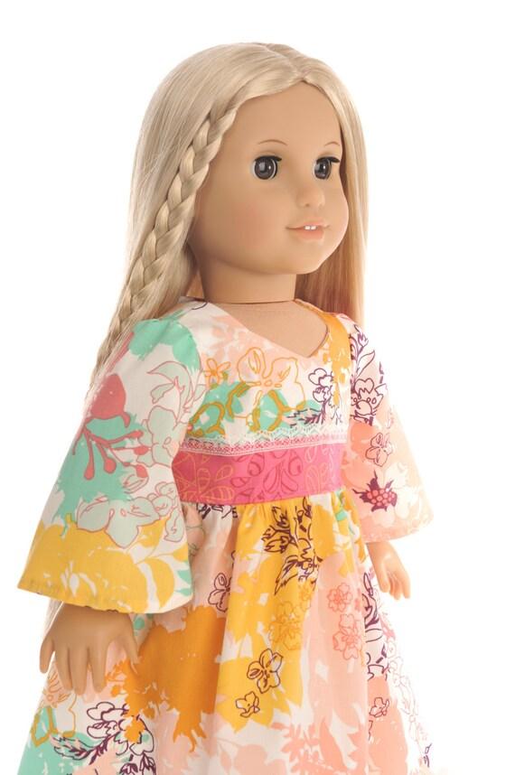 Mod Midi Dress American Girl Doll Clothes 18 Inch Doll