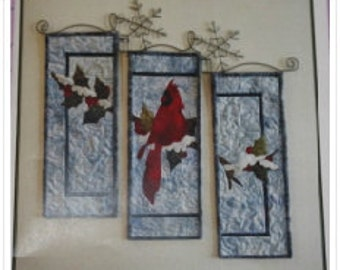 Beauty of Winter Cardinal Quilted Wall Hanging