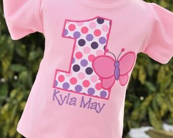 Personalized Butterfly Birthday Shirt - Girls Birthday Shirt - Butterfly Party - First Birthday - Butterfly Shirt - Butterfly Bodysuit
