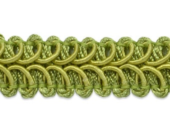 90 cents/yard -- 3 yards Sage Braided Gimp Trim -- 1/2 inch wide -- great for wipes cases