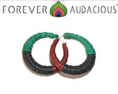 ROOTS - RBG Pan African  Hopp Earrings ( Genuine Leather  and Handcrafted ) -FREE Gift w/ Purchase